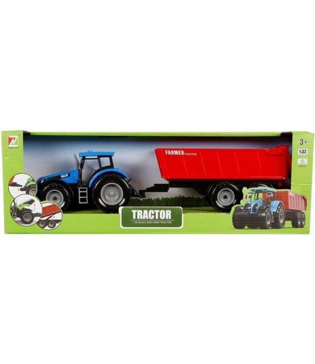 Tractor Met Aanhanger Junior 1:32 40 Cm