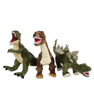 DinoWorld dinosaurus pluche met plastic tanden 3ass 62-73cm