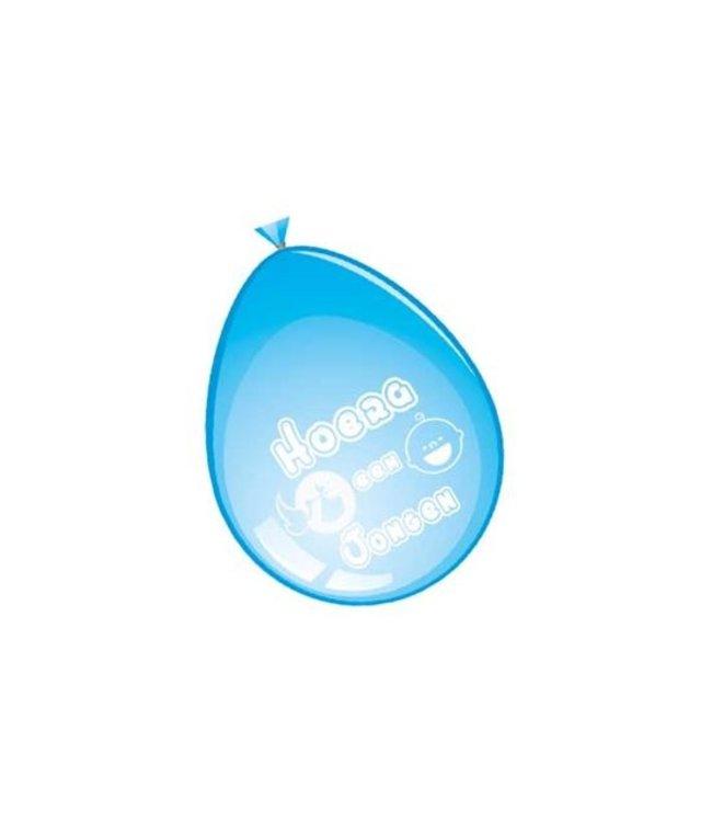 Ballonnen 'Hoera een Jongen' (Ø30cm,8st)