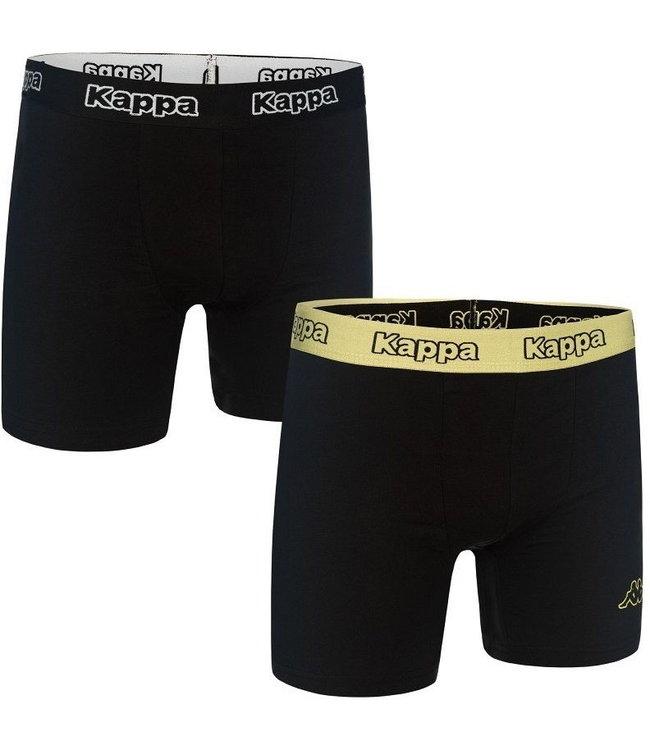 Kappa - Boxer 2 Pack - Zwart / Zandkleur- Heren -