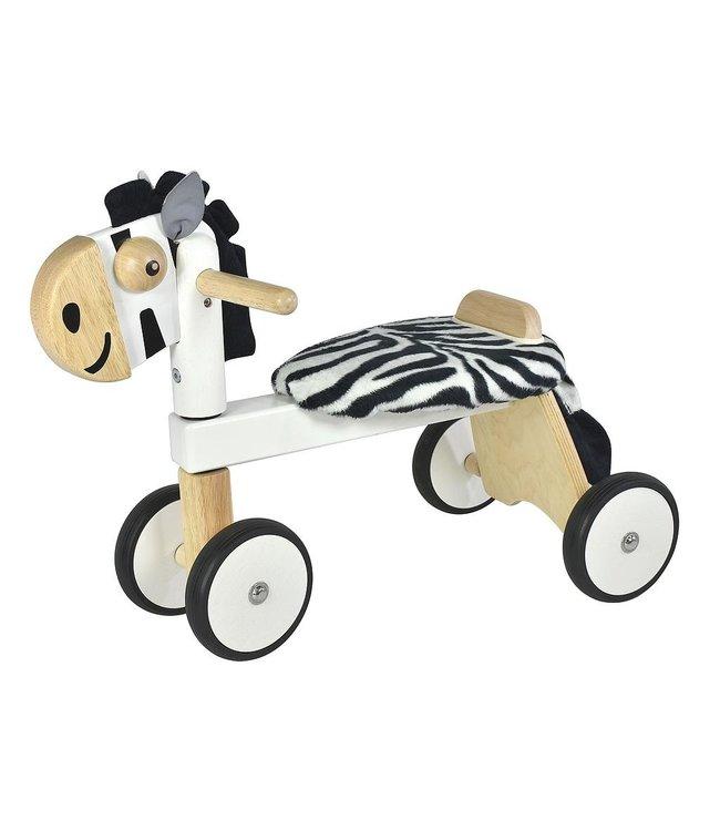 Loopfiets zebra, afm. 54 x 29 x 43 cm