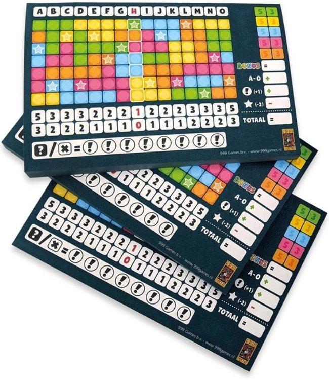 Scoreblokken Keer op Keer drie stuks Level 1 Blauw - Dobbels