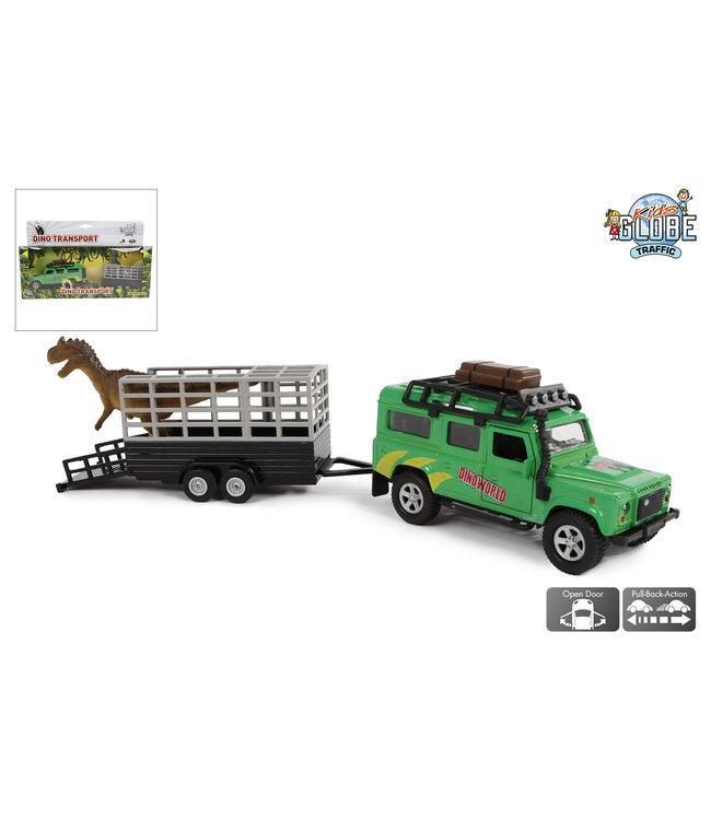 Landrover Dino Transport Pull Back 29 cm