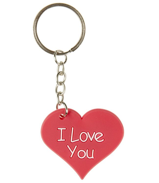 SLEUTELHANGER. HART -I LOVE YOU ( 5 cm )