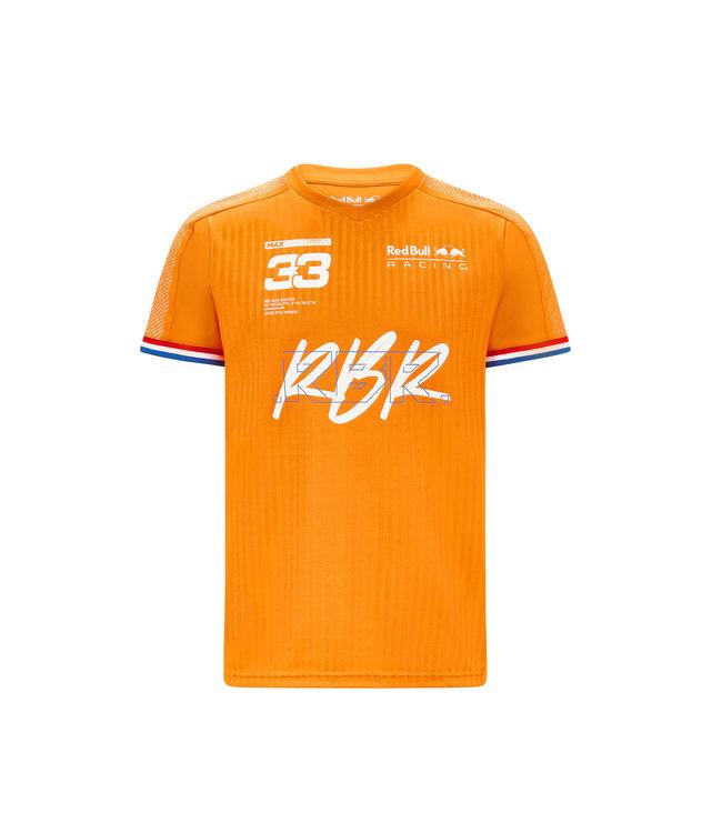 Red Bull Racing oranje shirt Max Verstappen 2021