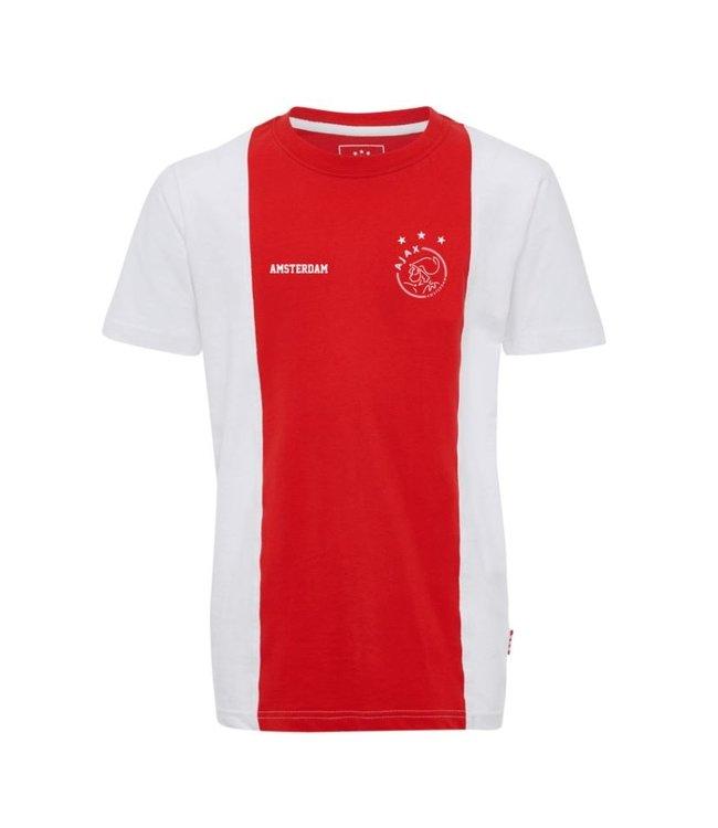 AJAX t-shirt wit rood wit logo Amsterdam XL