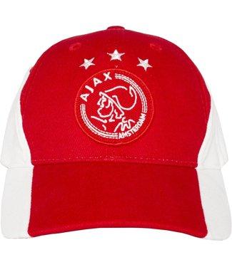 ajax Ajax Cap wit rood wit met logo kids