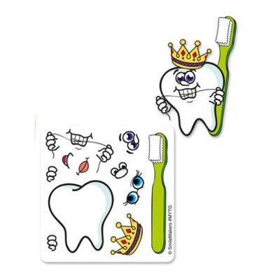 Stickervel ontwerp je tand