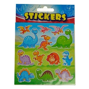 Stickervel dino
