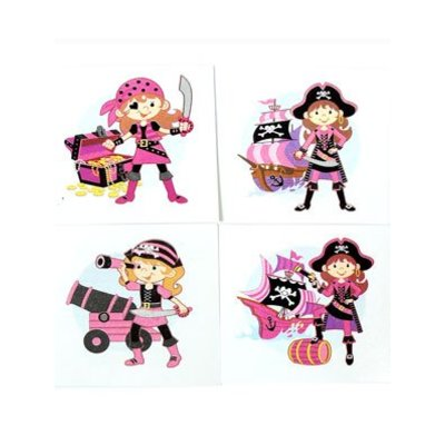 Plaktattoo Pink Pirate