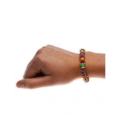 Armband spikey regenboog