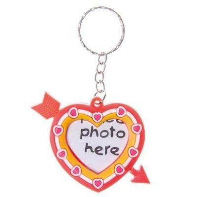 Sleutelhanger fotolijstje Hart