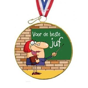 Choco medaille beste juf Voorraad 2 stuks!