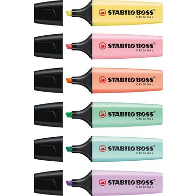 Stabilo STABILO BOSS ORIGINAL Pastel - Etui 6 kleuren