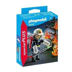 Playmobil Playmobil Plus 9093 Brandweerman met brandende boom