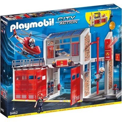 Playmobil Grote brandweerkazerne met helicopter Playmobil 9462