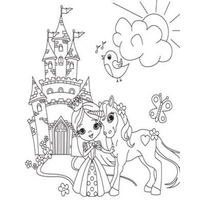Inkleurtas Eenhoorn & Prinses