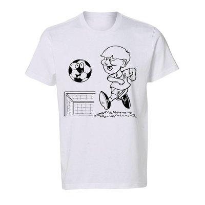 Kleur je Shirt Voetballer