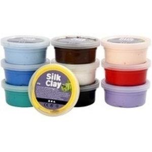 Silk clay basiskleuren ( set á 10 stuks)