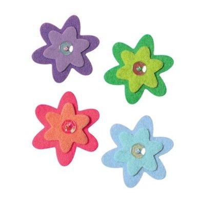 Plakfiguur bloem (4 sets op = op)