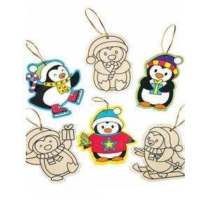 Hangdecoratie pinguïn Nog 5 sets leverbaar.