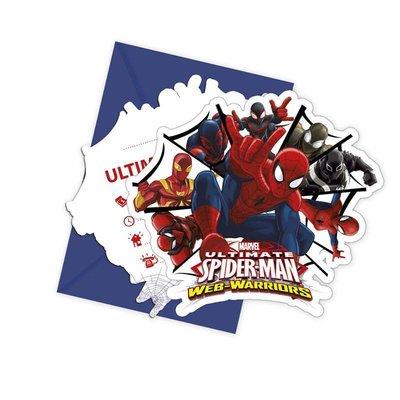 Spiderman Uitnodiging