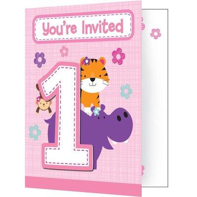 Uitnodiging Meisje 1 jaar