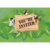 Safari Uitnodigingen ( nog 10 stuks leverbaar )