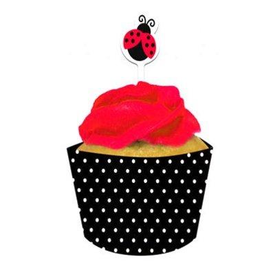 Cupcake wrapper lieveheersbeestje