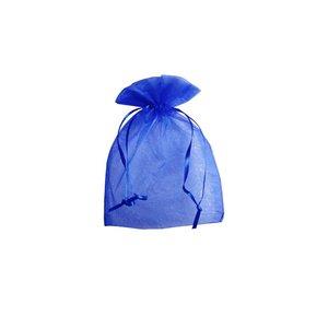 Organza zakje royal blue ( 10 x 15 cm)
