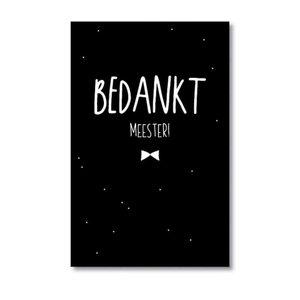 Mini kaartje 'Bedankt meester!'
