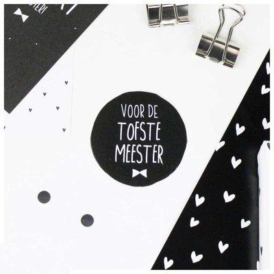 Sticker 'Voor de tofste meester'