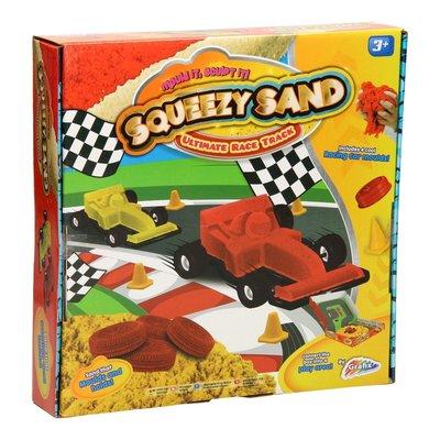 Speelzand racewagen