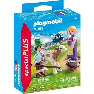 Playmobil Playmobil Plus 70155 Kinderen met kalf