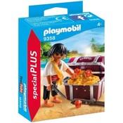 Playmobil Playmobil Plus 9358 Piraat met schatkist
