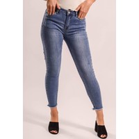 Jeans high waist back shreds