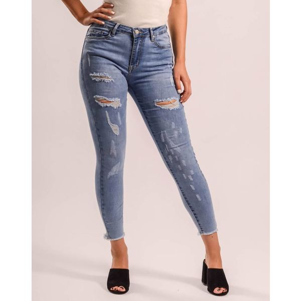 Jeans high waist shreds