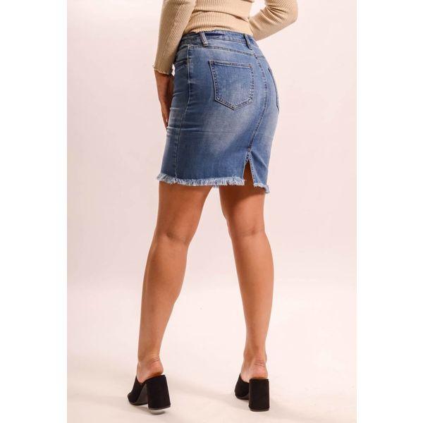 Jeans skirt straight ruffles