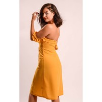 Dress offshoulder yellow
