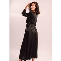 Long dress satin black