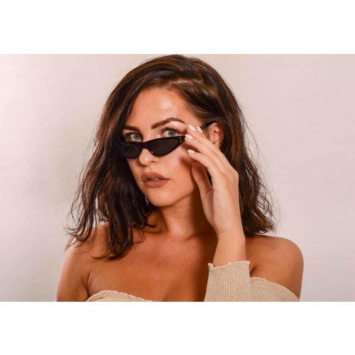 Retro sunglasses all black