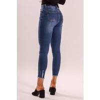 Jeans high waist basic blue