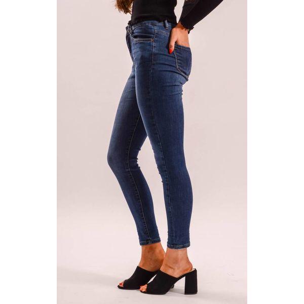Jeans high waist basic blue long length