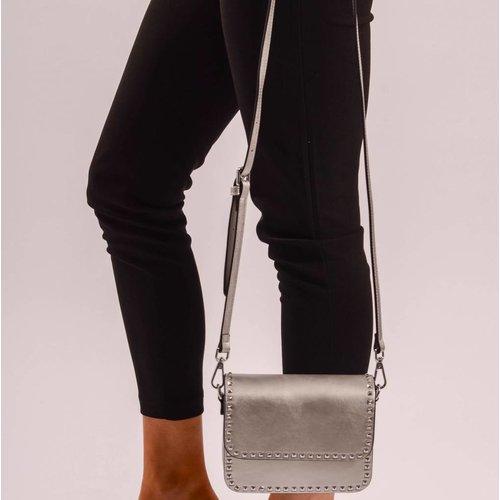 Grey stud bag