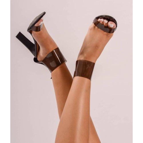 See through black heel