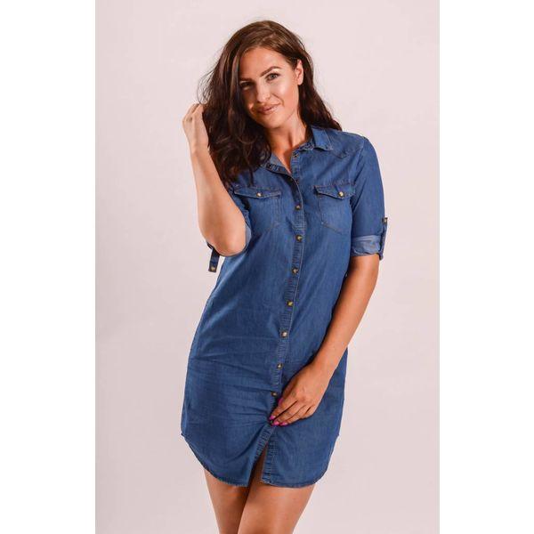 Denim blouse dress blue