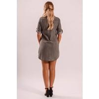 Denim blouse dress grey