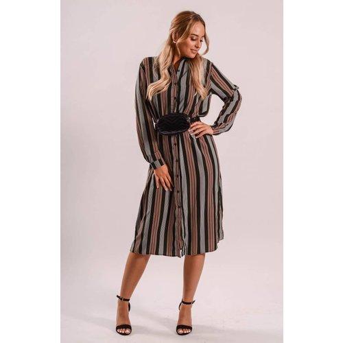 Blouse dress black/red stripes