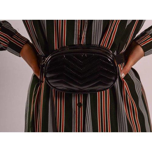 Lak waist bag black