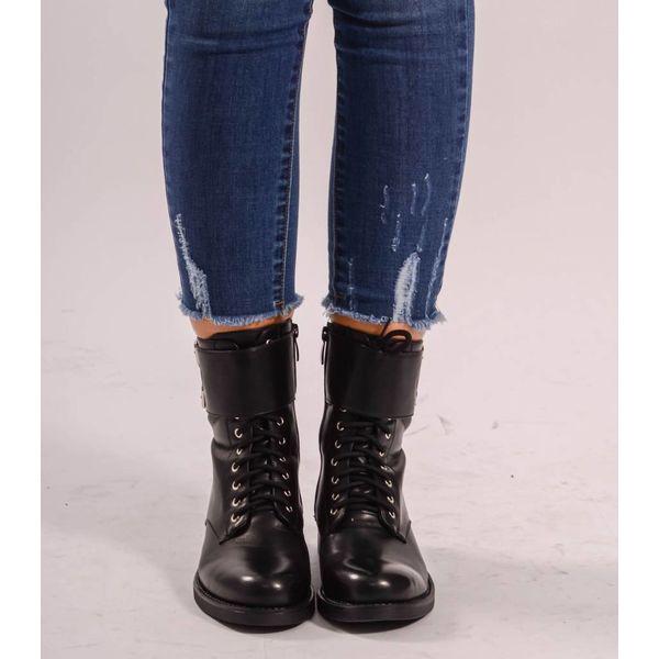Belted biker boots
